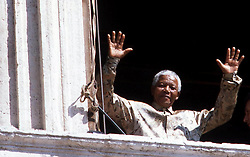 South Africa, Johannesburg - December 096, 2013.Former South African President Nelson Mandela has died in Johannesburg at the age of 95..Here picturedd in Rome, Italy January 1990. (Credit Image: © ROPI/ZUMAPRESS.com)