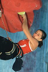Climber Agata Wisniewska (POL) at World cup competition in Zlato polje, Kranj, Slovenia, on November 15, 2008.  (Photo by Vid Ponikvar / Sportida)