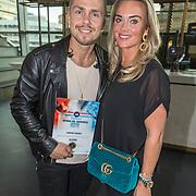 NLD/Utrecht/20181001 - Buma NL Awards 2018, Andre Hazes jr. en partner Monique Westenberg