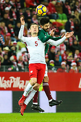 November 13, 2017 - Gdansk, Poland - Krzysztof Maczynski (POL) vies Hector Moreno (MEX) during the International Friendly match between Poland and Mexico at Energa Stadium in Gdansk, Poland on November 13, 2017. (Credit Image: © Foto Olimpik/NurPhoto via ZUMA Press)