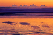sunset on Pacific Ocean at Long Beach<br /> Pacific Rim National Park<br /> British Columbia<br /> Canada