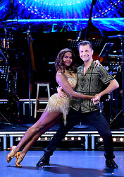 Oti Mabuse and Pasha Kovalev attending the Strictly Come Dancing Professionals UK Tour at Elstree Studios, London.
