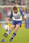 Twickenham , Surrey. UK,<br /> Twickenham Stoop Memorial Ground,<br /> Braam van Stratten, Harlequins vs Leeds<br /> [Mandatory Credit:Peter Spurrier/Intersport Image],<br /> Sport - Rugby 03/05/2002<br /> Zurich Premiership