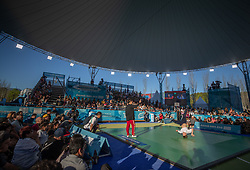 October 7, 2018 - Buenos Aires, Argentina - 181007 2018 Youth Olympic Games, Day 1: General view of the Breaking event with Martin Lejeune FRA (nickname Martin) and Xiaoyu Shang CHN (nickname X-Rain) at The Youth Olympic Games, Buenos Aires, Argentina Sunday 7th October 2018. Photo: Simon Bruty for OIS/IOC. Handout image supplied by OIS/IOC  (Credit Image: © Simon Bruty For Ois/Bildbyran via ZUMA Press)
