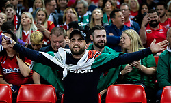 A Wales fan enjoying the atmosphere<br /> <br /> Photographer Simon King/Replay Images<br /> <br /> Friendly - Wales v Ireland - Saturday 31st August 2019 - Principality Stadium - Cardiff<br /> <br /> World Copyright © Replay Images . All rights reserved. info@replayimages.co.uk - http://replayimages.co.uk