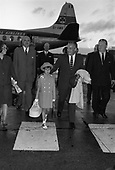 C271-1963- Prince Rainier and Princess Grace of Monaco and family arrive at Dublin Airport