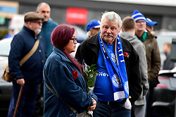 Leicester City fans outside the ground before the Premier League match at the Cardiff City Stadium, Cardiff.