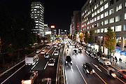 large road by Shinagawa station Tokyo