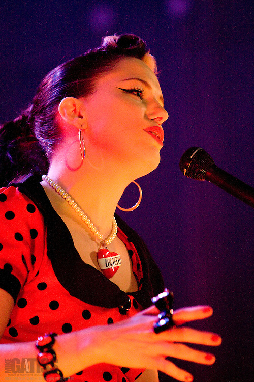 Imelda May performing live at Manchester Academy, Manchester, UK, 2010-10-09