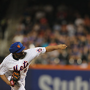 Pitcher Alex Torres, New York Mets, pitching with protective head gear during the New York Mets Vs San Diego Padres MLB regular season baseball game at Citi Field, Queens, New York. USA. 29th July 2015. Photo Tim Clayton