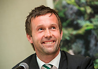 29/07/14 <br /> WARSAW - POLAND<br /> Celtic manager Ronny Deila offers his thoughts to the media ahead of his side's Champions League qualifier against Legia Warsaw.