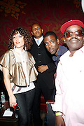 Emily King, Congressional Candidate Kevin Powell, Chris Rock  and Fab 5 Freddy at An evening with Dave Chappelle for Kevin Powell for Congress held at Eugene's on July 9, 2008..Kevin Powell runs as a Democratic Candidate for Congress in Brooklyn's 10th Congressional District