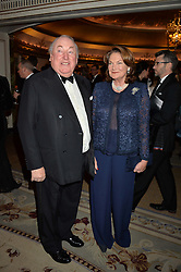 SIR ANTHONY & LADY OPPENHEIMER at the 26th Cartier Racing Awards held at The Dorchester, Park Lane, London on 8th November 2016.