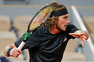 STEFANOS TSITSIPAS (GRE) during the Roland Garros 2020, Grand Slam tennis tournament, on October 9, 2020 at Roland Garros stadium in Paris, France - Photo Stephane Allaman / ProSportsImages / DPPI