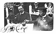 Samuel Franklin Cody (1862-1913), facing camera. American-born British aviator. Man-lifting kites: first British dirigible. Signed photograph.