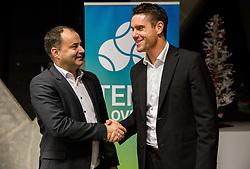 Andrej Slapar, new president and Gregor Krusic, director during General Assembly of Slovenian Tennis Federation, on December 12, 2018 in Kristalna palaca, Ljubljana, Slovenia. Photo by Vid Ponikvar / Sportida