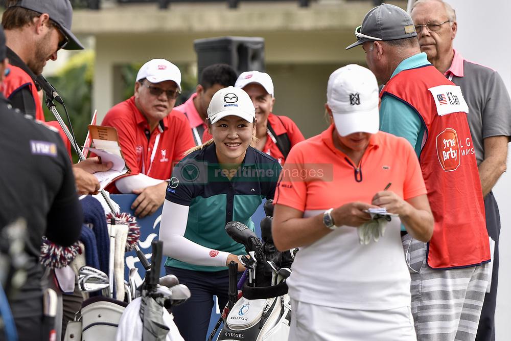 October 26, 2017 - Kuala Lumpur, Malaysia - Kelly Tan(C) of Malaysia during day one of the Sime Darby LPGA Malaysia at TPC Kuala Lumpur on October 26, 2017 in Kuala Lumpur, Malaysia. (Credit Image: © Chris Jung/NurPhoto via ZUMA Press)