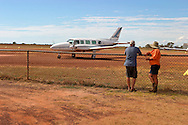 Outback Airport with Manager..For larger JPEGs and TIFF versions contact EFFECTIVE WORKING IMAGE via our contact page at : www.photography4business.com