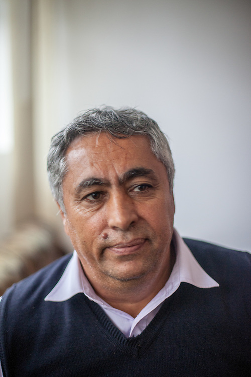 Portrait of Gheorghe Tudor who has been an activist for social change during the past 25 years, becoming the first elected Roma representative in the local council of Marginenii de Jos in 1992.