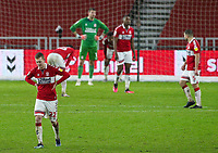 Middlesbrough's George Saville reacts to conceding a fourth goal<br /> <br /> Photographer Alex Dodd/CameraSport<br /> <br /> The EFL Sky Bet Championship - Middlesbrough v Brentford - Saturday 6th February 2021 - Riverside Stadium - Middlesbrough<br /> <br /> World Copyright © 2021 CameraSport. All rights reserved. 43 Linden Ave. Countesthorpe. Leicester. England. LE8 5PG - Tel: +44 (0) 116 277 4147 - admin@camerasport.com - www.camerasport.com