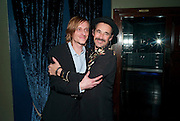 MACKENZIE CROOK;   MARK RYLANCE, Press night for Jerusalem. Apollo Theatre. Shaftesbury ave. After party at the Cafe de Paris. London. 10 February 2010