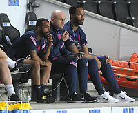 Football - 2023 UEFA European Under-21 Championship - Qualifying - Group G - England vs Kosovo - Stadium MK - Tuesday 7th September 2021<br /> <br /> England Manager Lee Carsley with coaches Ashley Cole and Joleon Lescott<br /> <br /> Credit : COLORSPORT/Andrew Cowie