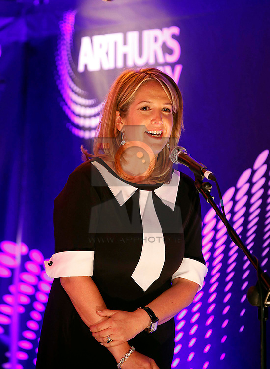 Orla Flanagan, Guinness Brand Manager pictured speaking at the launch of Arthur's Day 2011. Pic Andres Poveda CPR