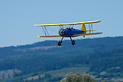 Stearman Model 70, prototype of the famous PT-13, PT-17 series, high speed pass.