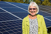 Val Hampshire one of the directors of the Low carbon Gordano, Moorhouse solar array. A Solarsense renewable energy project. Delivering 1,750HWh per annum.