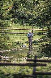 THEMENBILD - ein Fliegenfischer am Bachlauf unterhalb des Hintersees. Der Hintersee ist ein kleiner Gebirgssee in 1313 m Höhe im Talschluss des Felbertals in Mittersill. Der Bergsee ist ein Naturdenkmal und wurde unter Schutz gestellt. Der Hintersee gilt als Geheimtipp, Erholungsgebiet und ein Platz, den man gesehen haben muss, aufgenommen am 23. Juni 2019, am Hintersee in Mittersill, Österreich // a fly fisherman at the creek below the Hintersee. Hintersee is a small mountain lake 1313 m above sea level at the end of the Felbertal valley in Mittersill. The mountain lake is a natural monument and was placed under protection. The Hintersee is an insider tip, a place you must have seen and a recreation area on 2019/06/23, Hintersee in Mittersill, Austria. EXPA Pictures © 2019, PhotoCredit: EXPA/ Stefanie Oberhauser