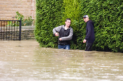 Flooding Ecclesfield Sheffield South Yorkshire - Wheel Lane.25 June 2007.Image COPYRIGHT Paul David Drabble.