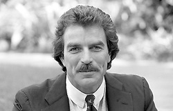 Amerian actor Tom Selleck, of the hit tv series Magnum, during a visit to London.