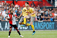 Feyenoord-player Tonny Vilhena and Excelsior-player Jerdy Schouten (R) and Excelsior-player Jurgen Mattheij (M) during the Dutch football Eredivisie match between Feyenoord and Excelsior at De Kuip Stadium in Rotterdam, on August 19th, 2018 - Photo Stanley Gontha / Pro Shots / ProSportsImages / DPPI