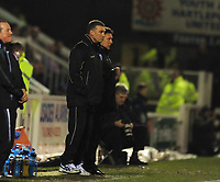 Nigel Pearson (Leicester City manager) <br /> Hartlepool United vs Leicester City at Victoria Park Hartlepool Football League one<br /> 17/02/2009. Credit Colorsport / Darren Blackman