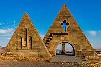 The Gates of Artsakh near Kornidzor in the caucasus mountain  landmark of Nagorno-Karabakh Armenia eastern Europe