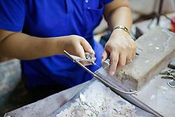 Working In Handicraft Factory