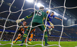 Chelsea's Gary Cahill scores his side's second goal of the game