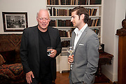 DAVID GILMOUR; JACK FREUD, Freud Museum dinner, Maresfield Gardens. 16 June 2011. <br /> <br />  , -DO NOT ARCHIVE-© Copyright Photograph by Dafydd Jones. 248 Clapham Rd. London SW9 0PZ. Tel 0207 820 0771. www.dafjones.com.