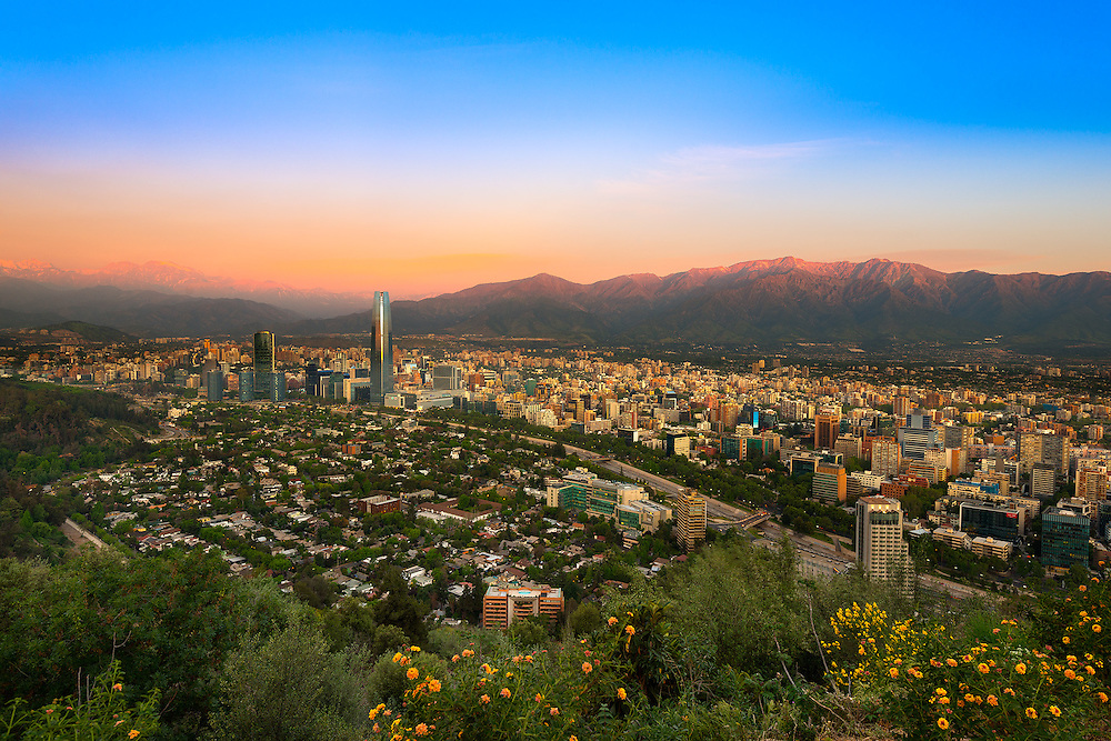 View of Santiago de Chile with Los Andes mountain Range in the back <br /> <br /> For LICENSING and DOWNLOADING this image follow this link: http://www.masterfile.com/em/search/?keyword=600-07784440&affiliate_id=01242CH84GH28J12OOY4<br /> <br /> For BUYING A PRINT of this image press the ADD TO CART button.<br /> <br /> Download of this image is not available at this site, please follow the link above.