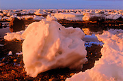 Icebergs along the Hudson Bay coastline<br />