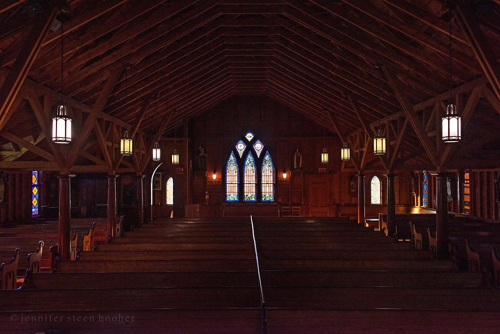 Windows 15-17.<br /> St. Ignatius of Loyola Catholic Church, Northeast Harbor, Maine.