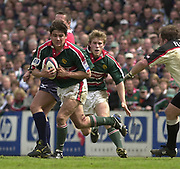 Leicester, Leicestershire, 3rd May 2003, Welford Road Stadium, [Mandatory Credit: Peter Spurrier/Intersport Images],Zurich Premiership Rugby - Leicester Tigers v London Irish<br /> Tigers Harry Ellis