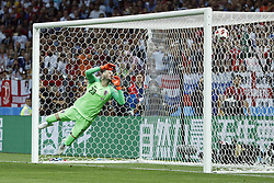 goalkeeper Danijel Subasic of Croatia during the 2018 FIFA World Cup Russia Semi Final match between Croatia and England at the Luzhniki Stadium on July 01, 2018 in Moscow, Russia