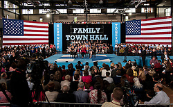 Oct. 04, 2016 - Haverford, PA, U.S. -  HILLARY CLINTON holds a conversation with Delaware County families at the Haverford Community Recreation & Community Center.(Credit Image: © Brian Cahn via ZUMA Wire)