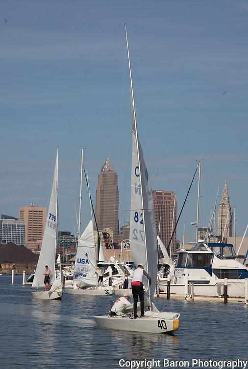 Cleveland skyline from Edgewater watch club