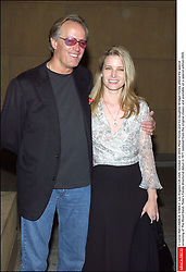 File photo - © Lionel Hahn/ABACA. 51604-2. Los Angeles-CA-USA, October 22 2003. Peter Fonda and his daughter Bridget Fonda attend the special screening of The Hired Hand, Peter's Fonda directorial debut in 1971 restored from the original classic and available on a special edition DVD. Peter Fonda, the star, co-writer and producer of the 1969 cult classic Easy Rider, has died at the age of 79. Peter Fonda was part of a veteran Hollywood family. As well as being the brother of Jane Fonda, he was also the son of actor Henry Fonda, and father to Bridget, also an actor.