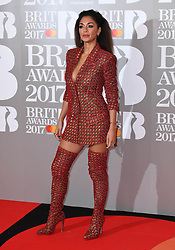 Nicole Scherzinger attending the BRIT Awards 2017, held at The O2 Arena, in London.<br /><br />Picture date Tuesday February 22, 2017. Picture credit should read Doug Peters/ EMPICS Entertainment. Editorial Use Only - No Merchandise.
