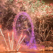2018 London's New Year's Eve fireworks