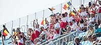 RIO DE JANEIRO  (Brazilië) -  Belgium supporters  during the poule match hockey men Belgium v Great Britain (4-1),  Olympic Games 2016 . Copyright Koen Suyk