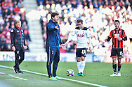 Tottenham Hotspur manager, Mauricio Pochettino  during the Premier League match between Bournemouth and Tottenham Hotspur at the Vitality Stadium, Bournemouth, England on 22 October 2016. Photo by Adam Rivers.